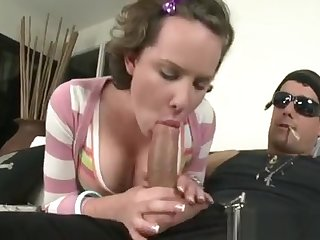 Promoter Gives Hunk A Wicked One-eyed Monster Sucking Session