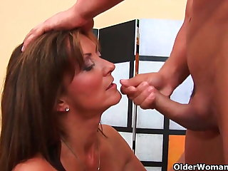 Can I cum in your mouth this grow older mommy?