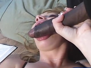 Katie Ray seduced by a black man for a estimable plowing game