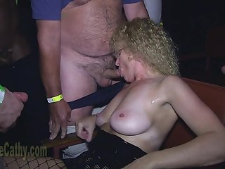 Curly granny sucks cocks be advantageous to crowd be advantageous to younger guys