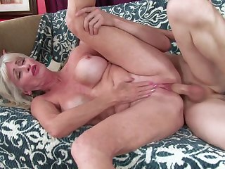 Greey mature woman wants this fresh dick in both her holes