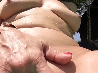 Granny masturbate in swimming unify