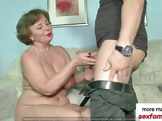 German old couple performs the kinkiest similarly be beneficial to screwing