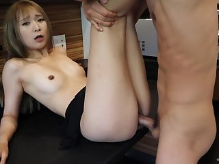 Cute Japanese Roommate getting Fucked in the Kitchen at the Breakfast - TokyoDiary
