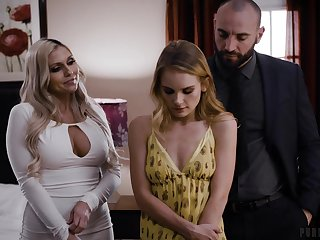 Blistering Christie Stevens is indeed ready for some kinky threesome